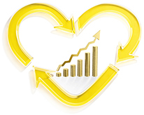 Heart economic logo