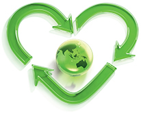 Heart environmental logo